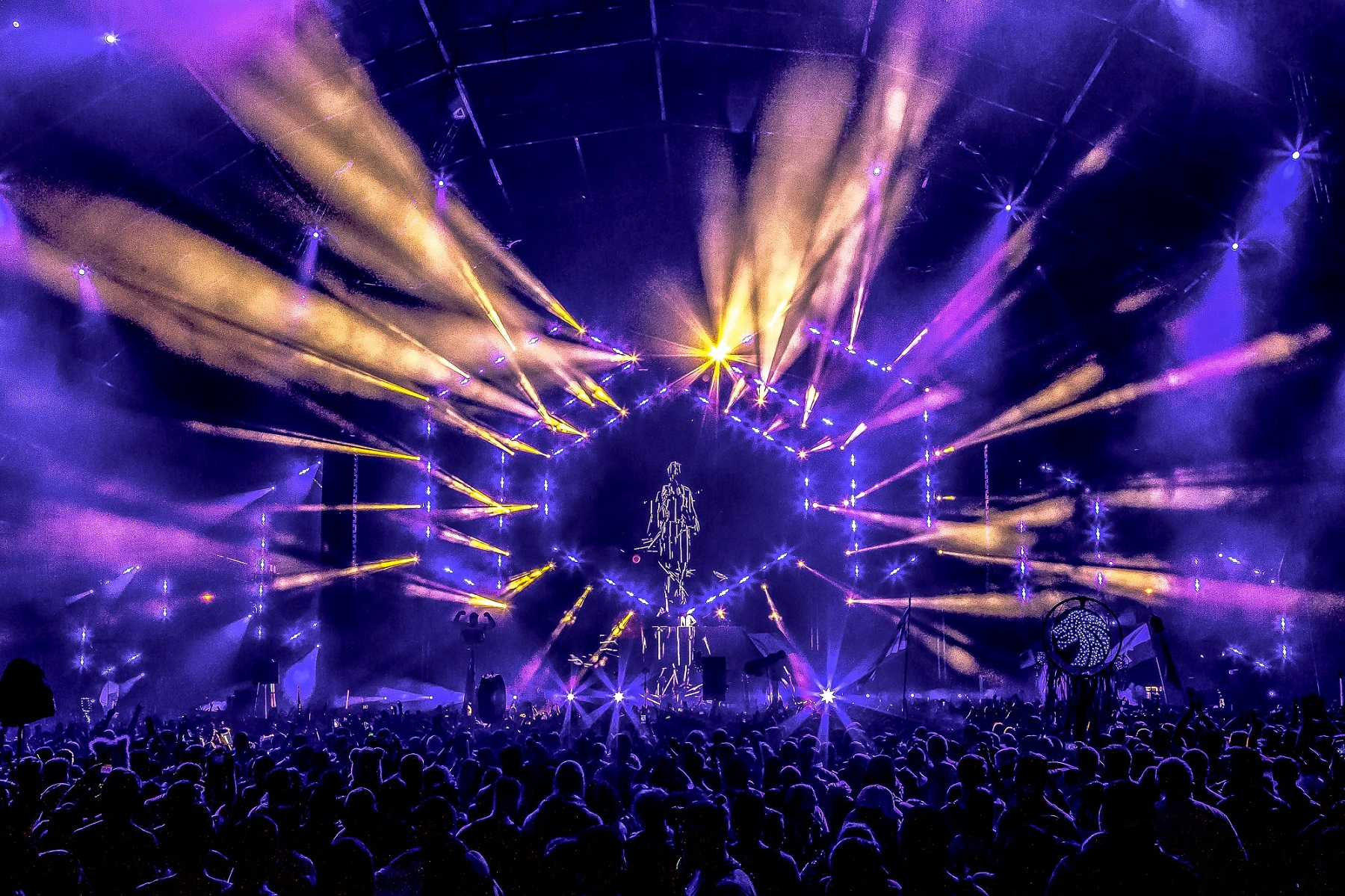 Elation Lighting For Circuit Grounds Stage At Electric